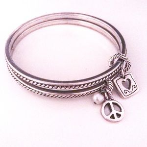 Alex and Ani Silver Bangles